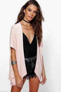 Womens Jersey Kimono - Beige - S/M, Beige