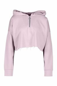 Womens Mix & Match Loopback Lounge Hoodie - Purple - 14, Purple