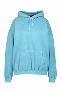 Womens Plus Oversized Washed Hoodie - Blue - 16, Blue