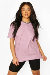 Womens Plus Oversized Washed T-Shirt - Pink - 20, Pink