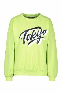 Womens Petite Tokyo Sweatshirt - Green - 6, Green