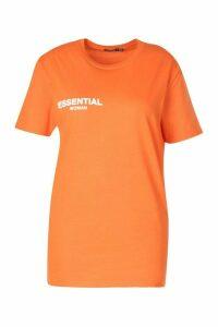 Womens Plus Essential T-Shirt - orange - 20, Orange