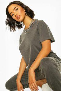 Womens Washed Oversized Tshirt - Grey - M, Grey