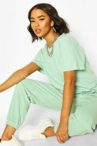 Womens Washed Oversized Tshirt - Green - M, Green