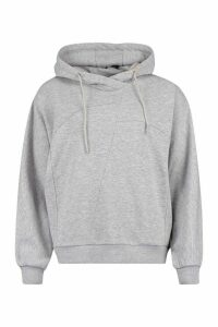 Womens Seam Detail Hoody - Grey - 16, Grey