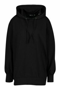 Womens Tall Hooded Extreme Sleeve Sweat Top - black - 18, Black