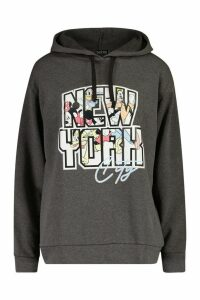 Womens Disney Mickey & Friends NYC Oversized Hoodie - grey - 16, Grey