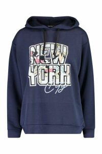 Womens Disney Mickey & Friends Nyc Oversized Hoodie - Navy - 8, Navy