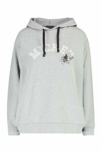 Womens Disney Mickey Mouse Hoodie - Grey - 16, Grey