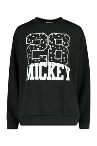 Womens Disney Mickey Collegiate Jumper - Black - 10, Black