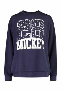 Womens Disney Mickey Collegiate jumper - navy - 16, Navy