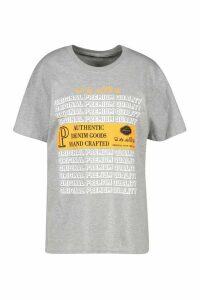 Womens Washcare Graphic Printed T-Shirt - Grey - Xl, Grey