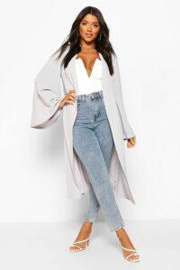 Womens Wide Sleeve Kimono - Grey - M, Grey
