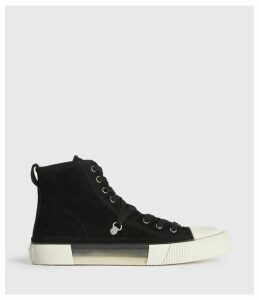 AllSaints Elena High Top Suede Trainers