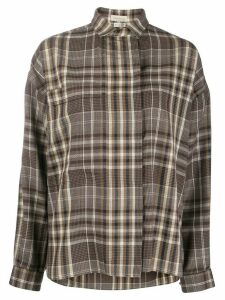 Versace Pre-Owned 1980s check shirt - Blue