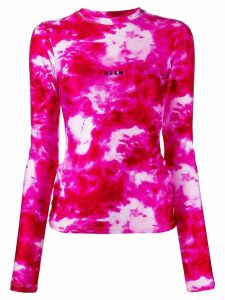 MSGM tie-dye print T-shirt - PINK
