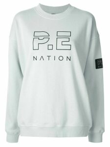 P.E Nation Heads Up long sleeve sweater - Blue