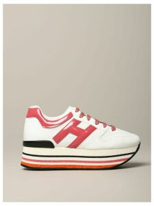 Hogan Sneakers Hogan 283 Platform Sneakers In Leather With Big H In Patent Leather