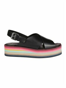 Paul Smith Black Leather Sandals