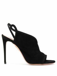 Aquazzura Very Serpentine asymmetric sandals - Black