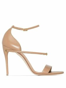 Jennifer Chamandi Rolando 105mm sandals - NEUTRALS