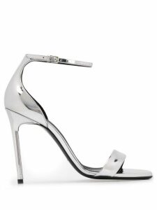 Saint Laurent Amber 110mm sandals - SILVER