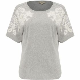 Phase Eight Lee Lace Shoulder T-Shirt