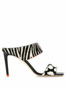 Jimmy Choo Hira 85mm zebra print sandals - Black
