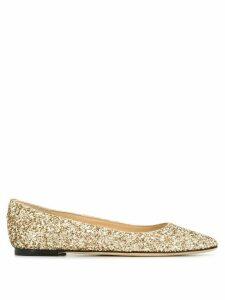 Jimmy Choo Mirele ballerina shoes - GOLD