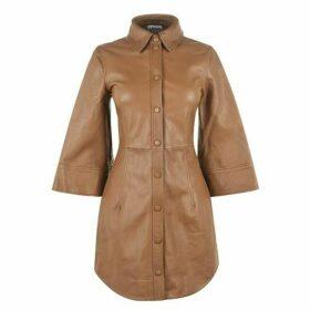 Ganni Leather Mini Dress