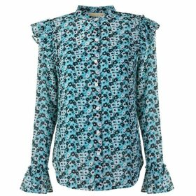 MICHAEL Michael Kors Floral Long Sleeved Blouse