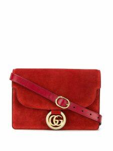 Gucci logo plaque shoulder bag - Red