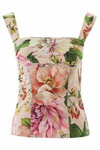 Dolce & Gabbana Flower Print Top