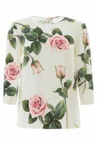 Dolce & Gabbana Tropical Rose Blouse