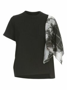 Sacai World Map T-shirt S/s W/one Foulard Sleeve