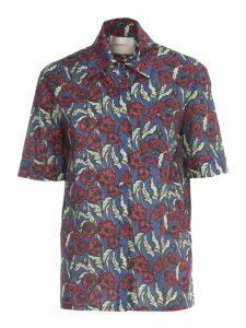 La DoubleJ Clerk Shirt S/s Voille Blooms Fantasy