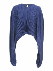 Federica Tosi Pleated Shirt L/s Crew Neck