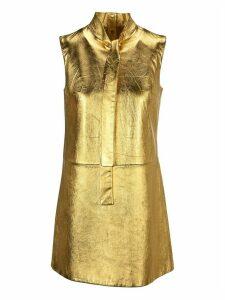 Prada Laminated Nappa Leather Dress