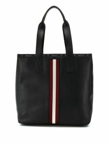 Bally tote bag with stripe detail - Black