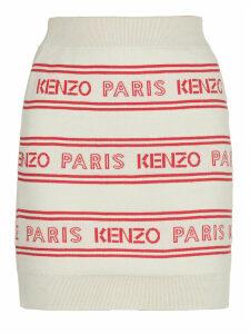 Kenzo All Over Kenzo Jaquard Skirt