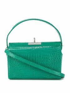 gu de crocodile effect tote bag - Green