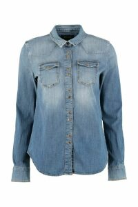 Pinko Caroline Long-sleeve Denim Shirt