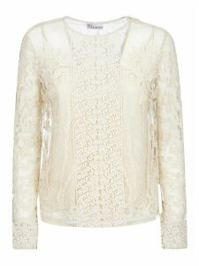 RED Valentino Floral Lace Shirt