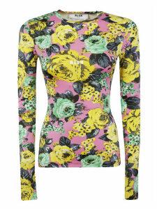 Floral Printed Slim Blouse