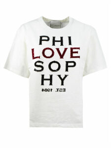 Philosophy di Lorenzo Serafini White Cotton T-shirt