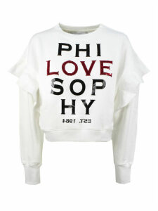 Philosophy di Lorenzo Serafini White Cotton Blend Sweatshirt