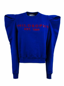 Philosophy di Lorenzo Serafini Blue Cotton Sweatshirt