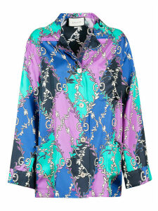 Gucci Double G Printed Oversized Shirt