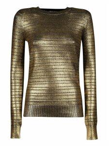 Saint Laurent Metallic Long-sleeve Sweater