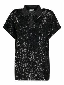 Saint Laurent Sequin-coated Top